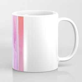 Watercolor Rainbow Stripes in Ombre Summer Pastels Coffee Mug