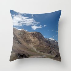 Scenery in Spiti Valley Throw Pillow