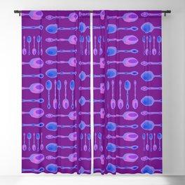Unique Artsy Spoons! (Bright Purple) Blackout Curtain