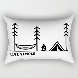 Live Simple Rectangular Pillow
