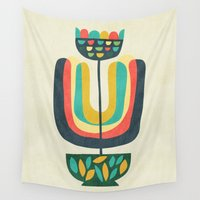 plant Wall Tapestries featuring Potted Plant 3 by Picomodi