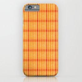 Plaid_Orange iPhone Case