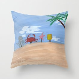 Above Bikini Bottom Throw Pillow