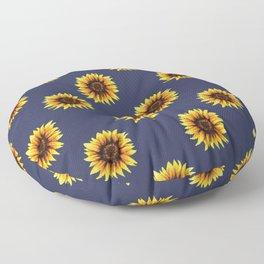 Sunflower // Navy Edit Floor Pillow