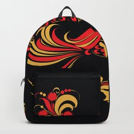 Native red bird Backpack