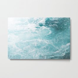 Turquoise and whitewater Metal Print