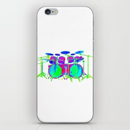 Colorful Drum Kit iPhone Skin