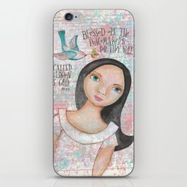Peacemaker by patsy paterno iPhone Skin
