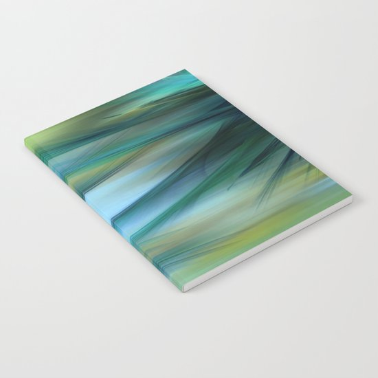 Soft Feathered Lights Abstract Notebook