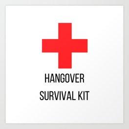 Hangover Survival Kit Art Print