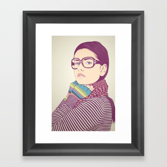 Just know who I am.... Framed Art Print