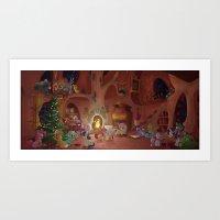 MLP Christmas Scene Art Print
