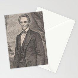 Vintage Abraham Lincoln Illustrative Portrait (1860) Stationery Cards