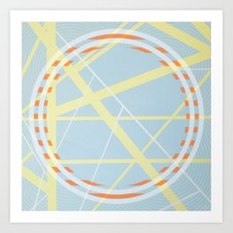 crossroads ll - orangle circle graphic Art Print