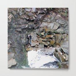 Rocks Stream Nature Metal Print