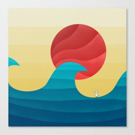 062 - The perfect summer wave Canvas Print