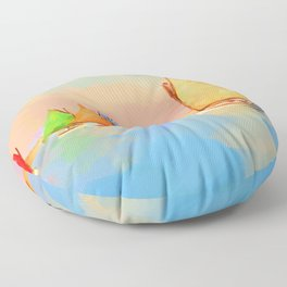 Rainbow Fleet Floor Pillow