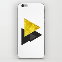 Metal triangle abstract - Metal sign - The Five Elements iPhone Skin