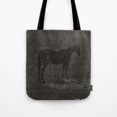Black Dot Horse Tote Bag