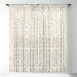 Gold Mandala Sheer Curtain