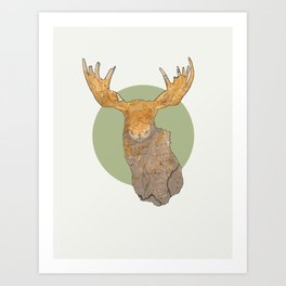 Canadian Moose Art Print