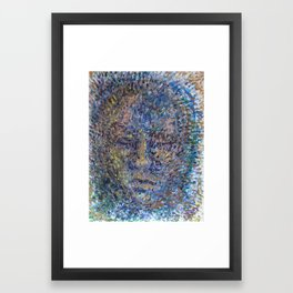 The Face of Man Framed Art Print