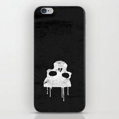 GRUNGE BACKGROUND WITH SKULL iPhone & iPod Skin