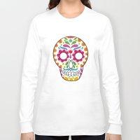 dia de los muertos Long Sleeve T-shirts featuring Dia de los muertos by Studio Armad'illo