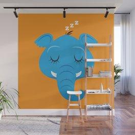 Sleepy Elephant Wall Mural
