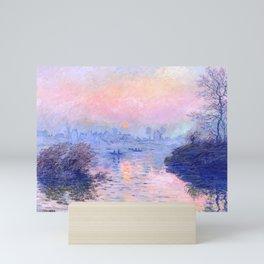 "Claude Monet ""Sunset on the Seine at Lavacourt. Winter Effect"" Mini Art Print"