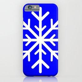 Snowflake (White & Blue) iPhone Case