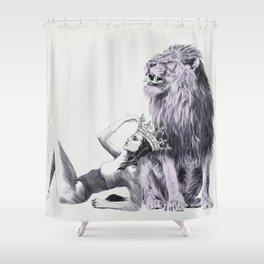 The Queen (Leo) Shower Curtain