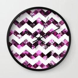 Purple Zig Zags I Wall Clock