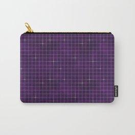 Purple retrowave grid Carry-All Pouch