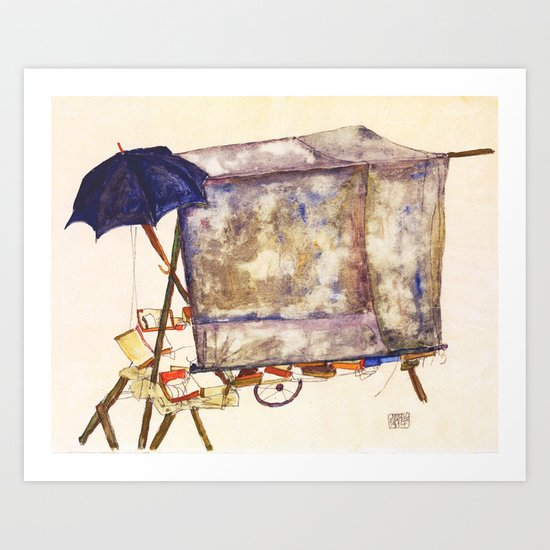 Egon Schiele - Street cart (new editing) by dejavustudio