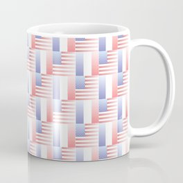 Mix of flag : usa and France 2 with color gradient Coffee Mug