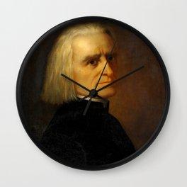 Franz Liszt (1811-1886) by Carl Ehrenberg in 1868 Wall Clock