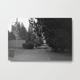 Motel at Autumn Metal Print