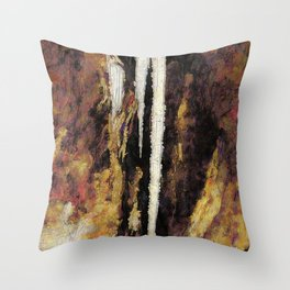 Icicle Abstraction Throw Pillow