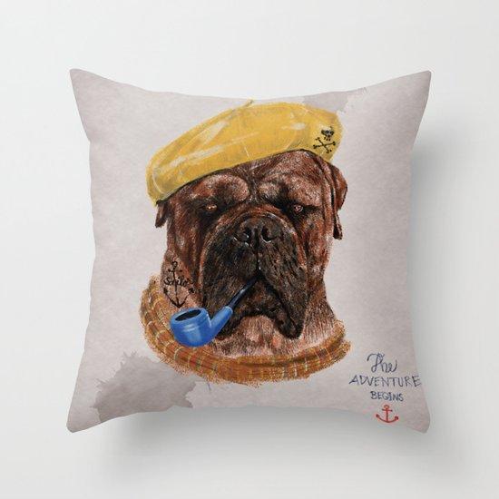 Mr.Boss Throw Pillow