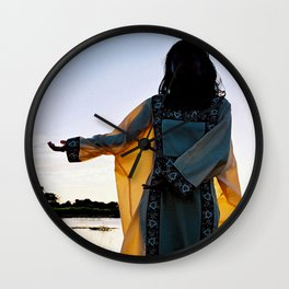 WAYUU YOUNG NATIVE LADY Wall Clock