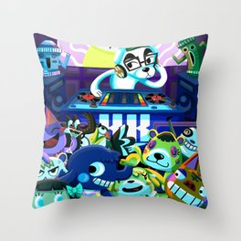 Animal Crossing DJ KK Slider Throw Pillow