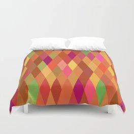 Summer Heat Harlequin Abstract Geometric Duvet Cover