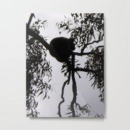Koala Silhouette Metal Print