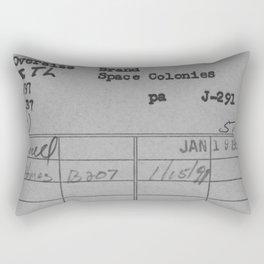 Library Card 797 Gray Rectangular Pillow