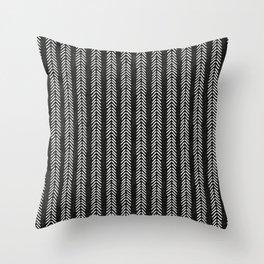 Mud cloth - Black and White Arrowheads Throw Pillow