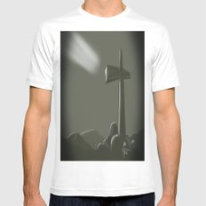 Inspired Cross Mens Fitted Tee MEDIUM White