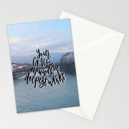 Grace in Deep Waters Stationery Cards