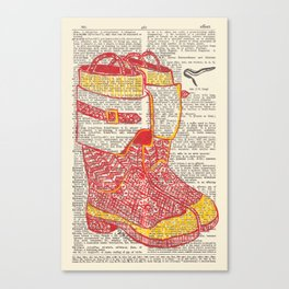 Bunker Boots (Firemen's boots in red and yellow) Canvas Print