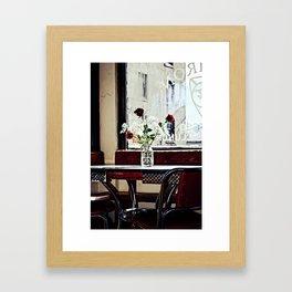 Cafe Break Framed Art Print